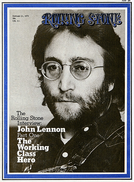 John Lennon on the cover of Rolling Stone magazine